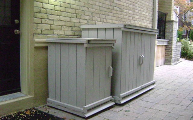 Outdoor Trash Can Storage Shed Garbage Recycling Center