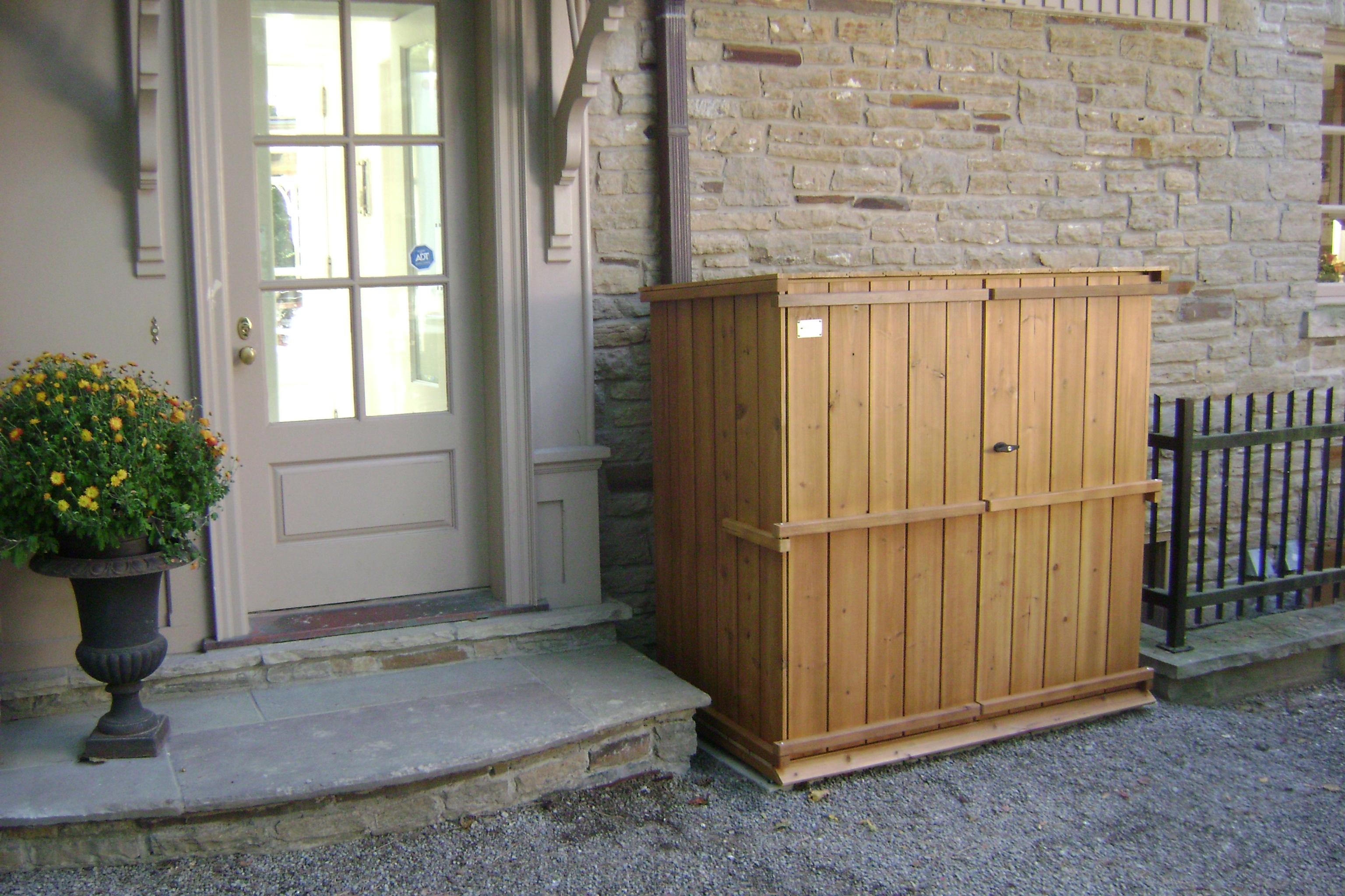 Shed Storage Solutions Xl garbage storage gallery