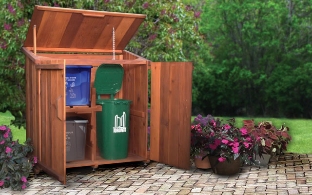 ... Garbage Bins, Each Ubisu Unit Is A Mini Modular Shed Made Of Cedar And  High Grade Aluminum (in Mississauga No Less) That Is Not Only Entirely ...